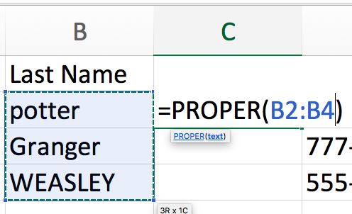 proper select