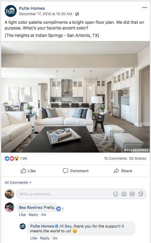 pulte-homes-facebook-comments