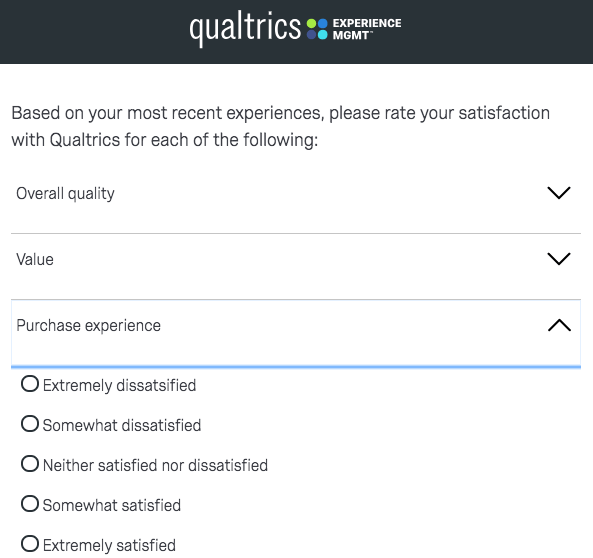 Qualtrics customer satisfaction survey
