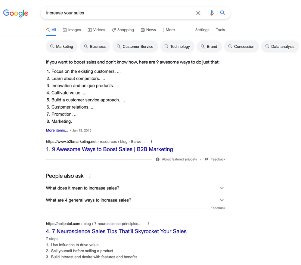 search results for 'increase more sales'