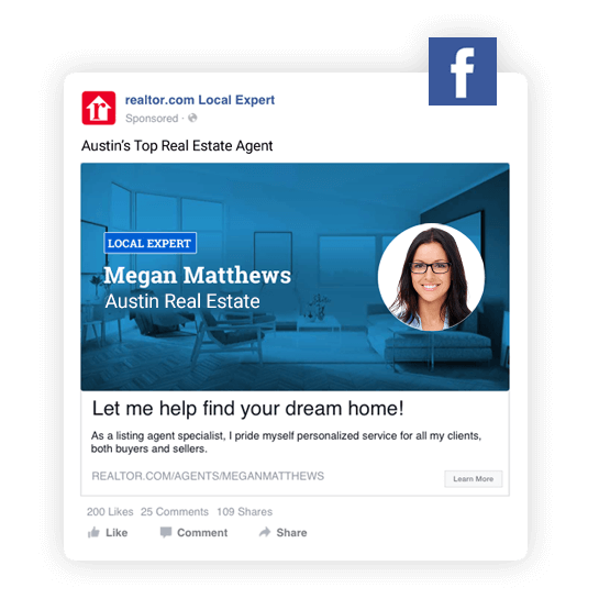 realtor.com Facebook real estate ad