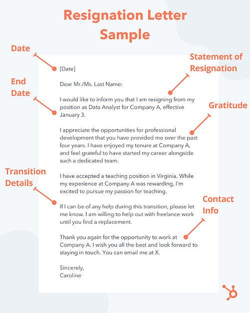 friendly resignation letter pattern