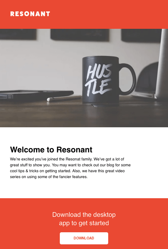 resonant email newsletter template