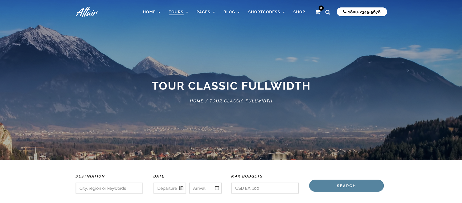 responsive layout for Altair WordPress theme
