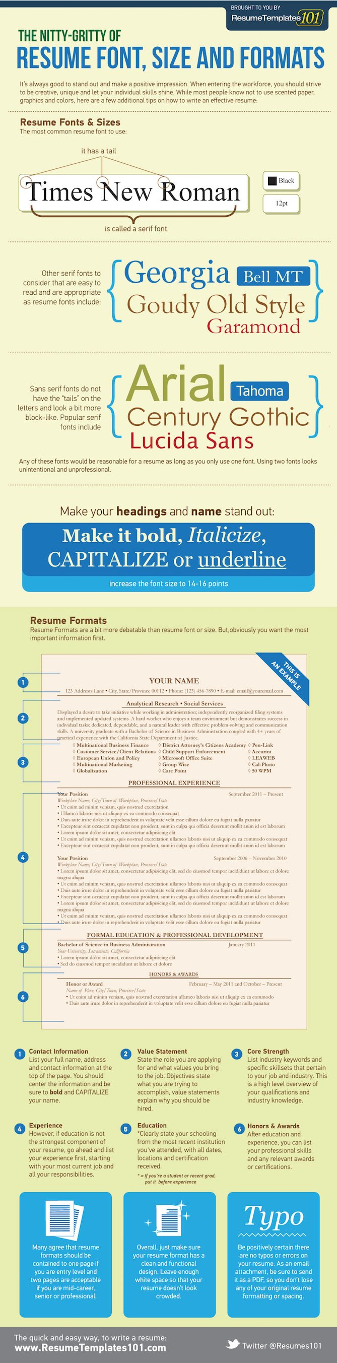 Resume Formats Infographic  Best Way To Format A Resume