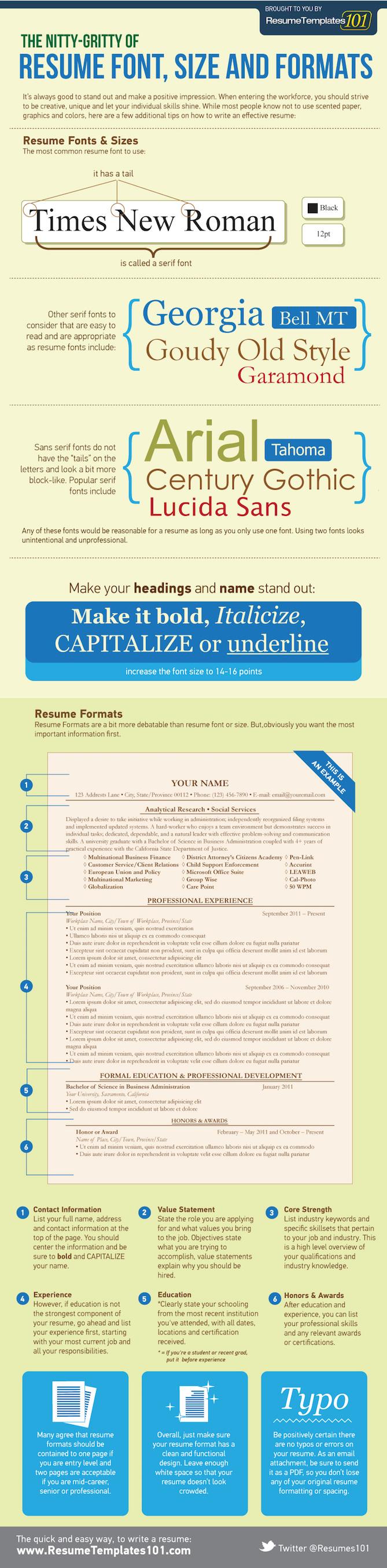 Resume Formats Infographic  Proper Resume Format