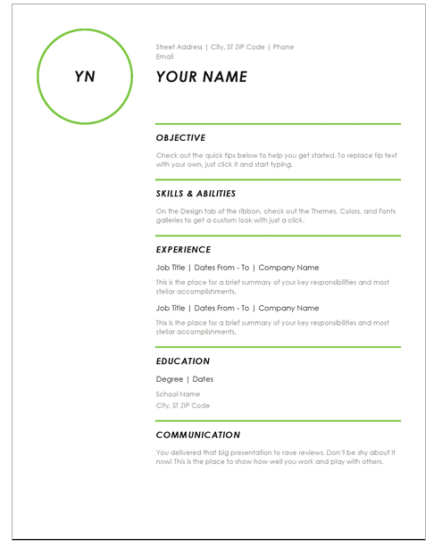 resume modern template - Resume Templates Education Jobs