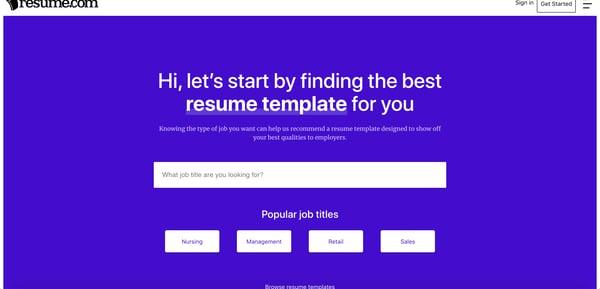 Resume.com Resume Builder.