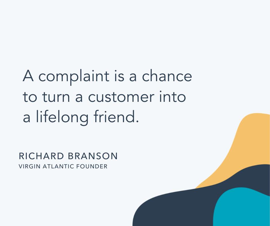 Customer care quote by Richard Branson, Virgin Atlantic founder