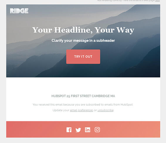 ridge hubspot email newsletter template