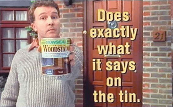 Ronsel's catchy slogan, Does exactly what it says on the tin