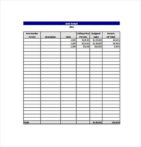 sales goal tracking template from template.net