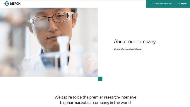 Example sales pitch by medical company Merck on its website