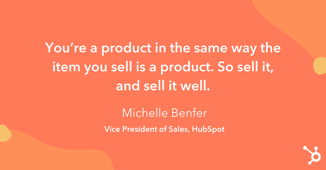 """Tip on how to increase sales: """"You're a product in the same way the item you sell is a product."""""""