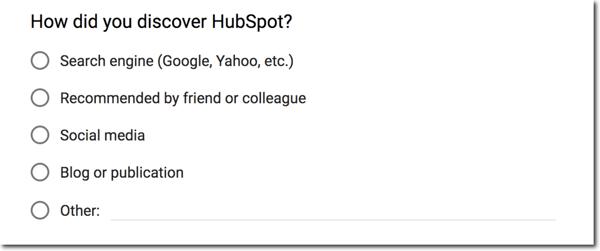 customer feedback survey question example