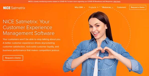 satmetrix customer management experience tool