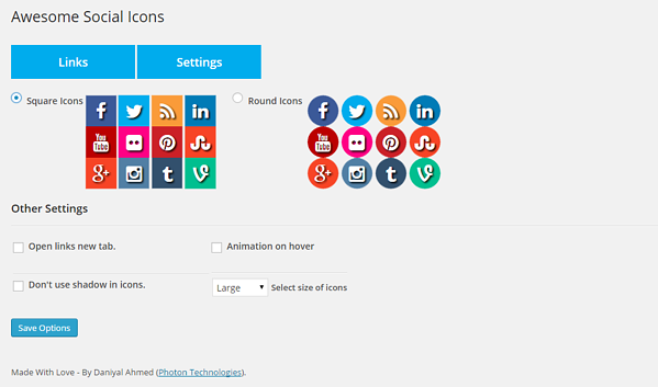 Use Fuse Social Floating Sidebar plugin to display the most popular social media icons on your WordPress site