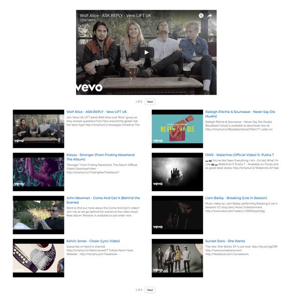 Video Gallery layout via YotuWP's plugin