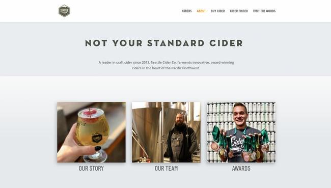 Company profile example: Seattle Cider