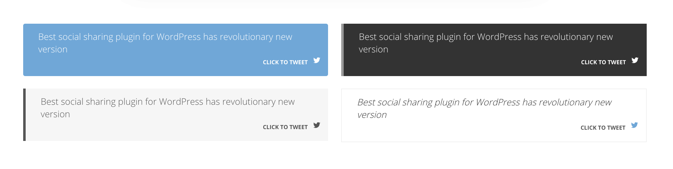 shareable quotes example of easy social share buttons plugin