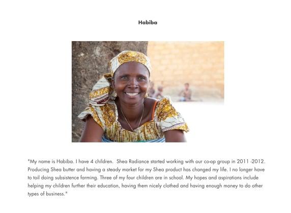 social entrepreneurship example: sheabutter radiance employee profile