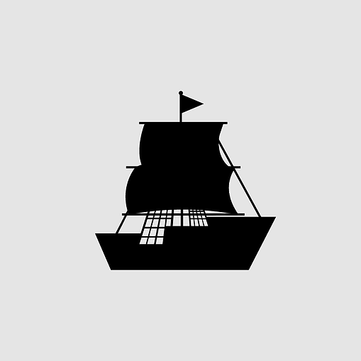 material design black filled ship icon