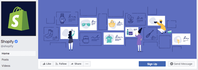 Shopify Facebook Business Page