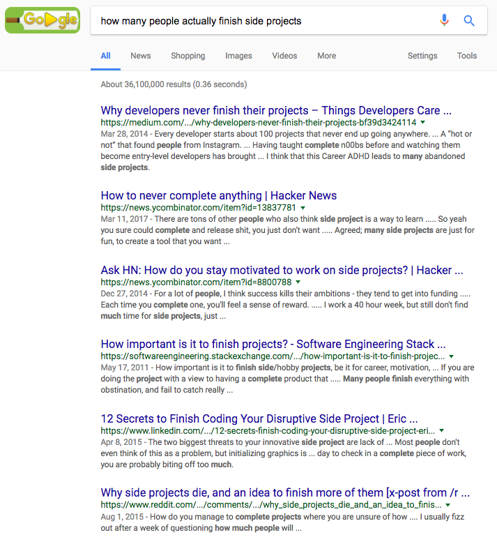 side projects search results.png