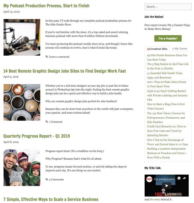 side-hustle-nation-personal-blog-posts