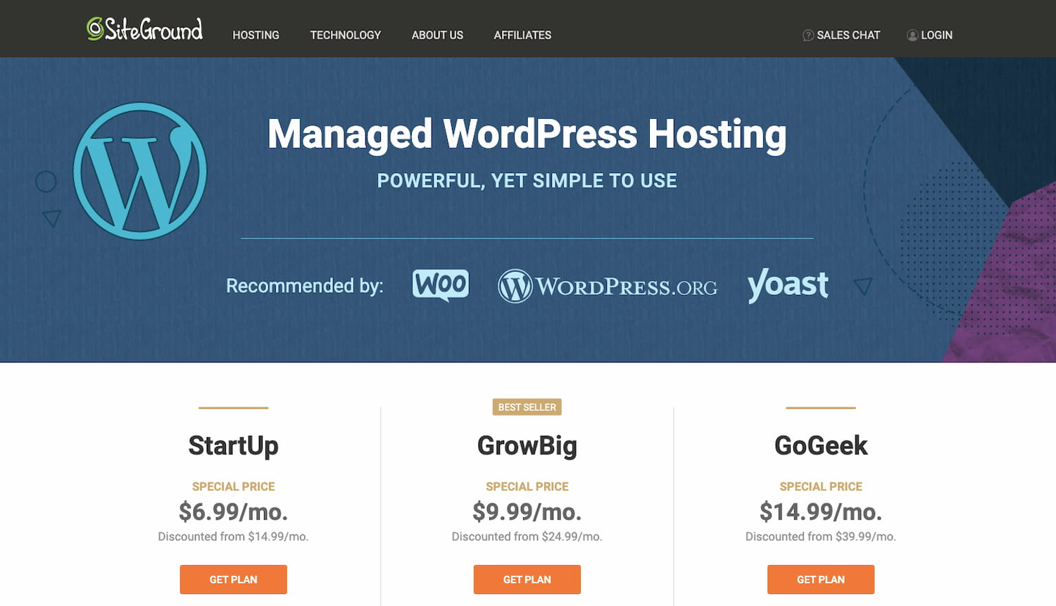 sign up for hosting plan with siteground or other provider when converting Wix to wordPress