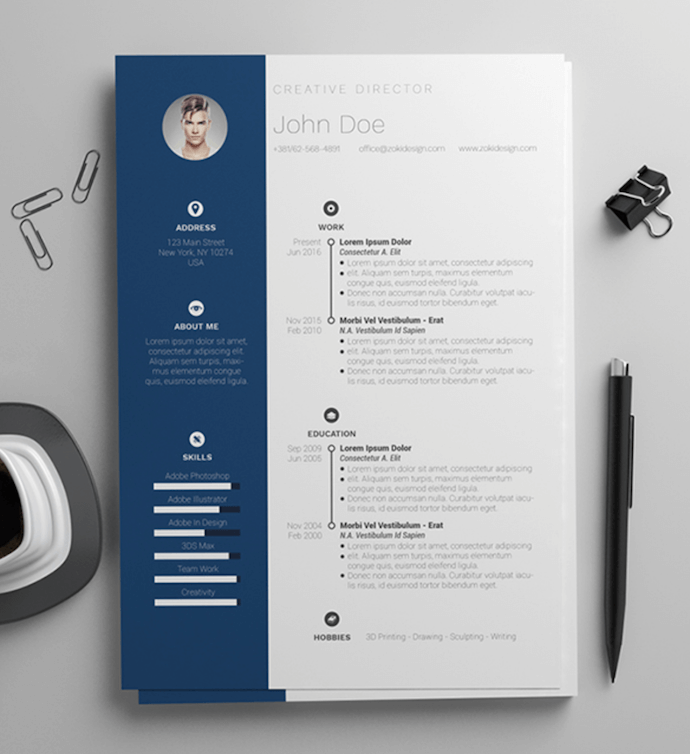 Simple and clean resume template for MS Word