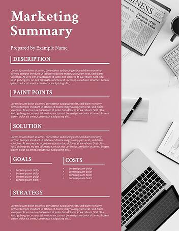 marketing project business proposal
