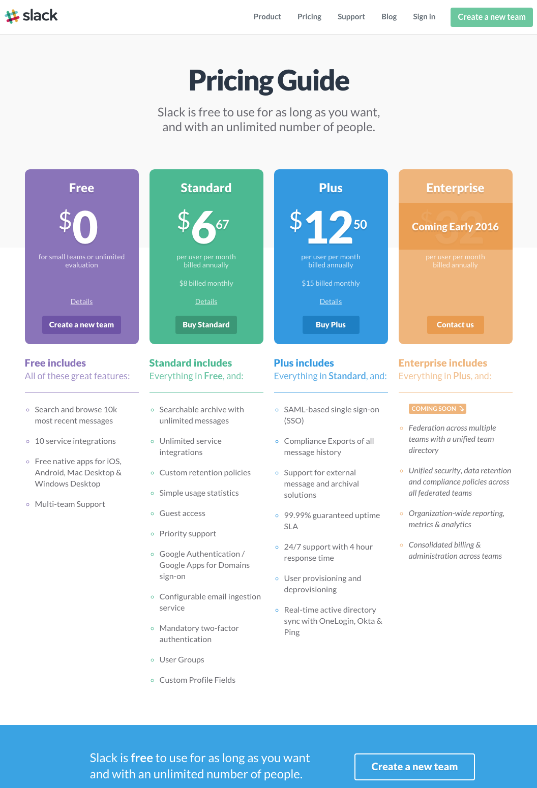 table chart design inspiration. Slack-pricing-page.png Table Chart Design Inspiration