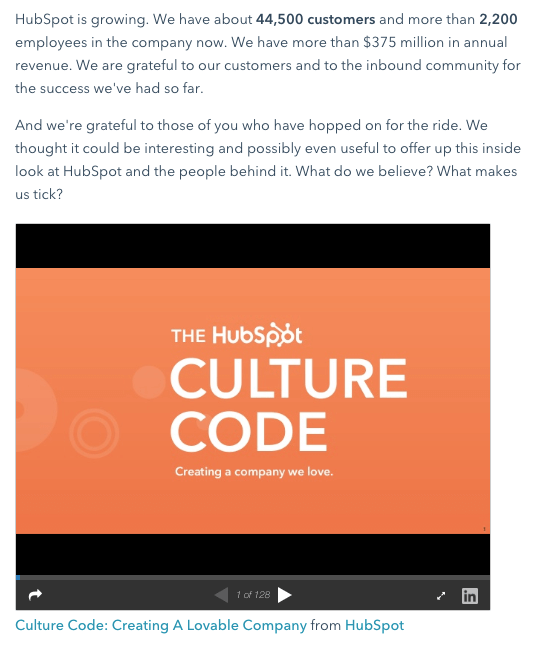 Blog post example by HubSpot promoting a Slideshare presentation
