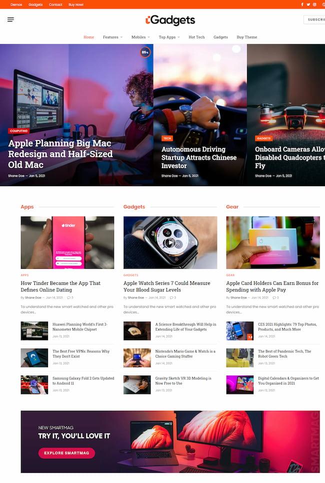 SmartMag right-to-left (RTL) WordPress theme