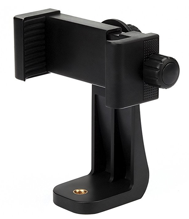 Mobile grip to attach smartphone to tripod stand