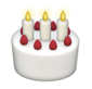 Snapchat birthday cake emoji to indicate user's birthday