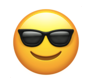 Snapchat sunglasses face emoji to indicate mutual best friend