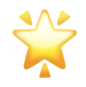 Snapchat gold star emoji to indicate replayed snap