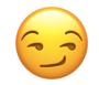 Snapchat smirking face emoji to indicate non-mutual best friend