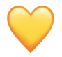 Snapchat yellow heart emoji to indicate #1 best friend