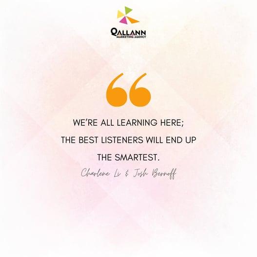 Social listening tip: Qallann Marketing Agency