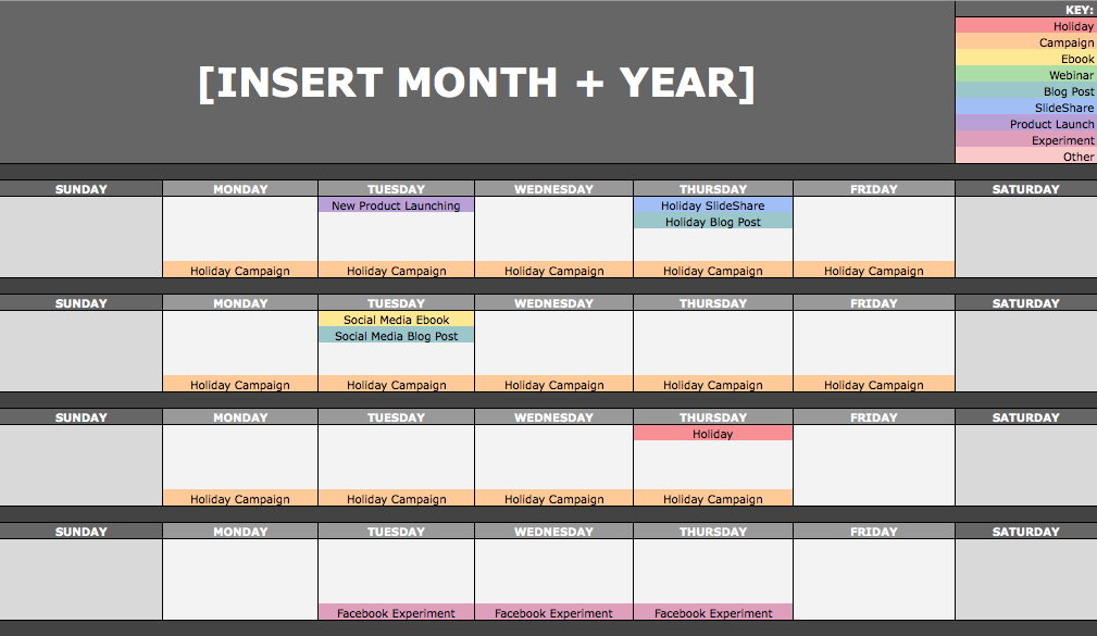 schedule calendar templates