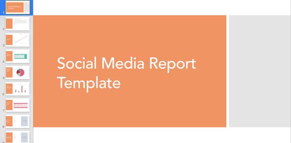 Social media report template.