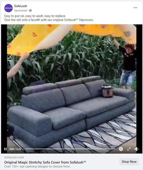 sofalush facebook ad