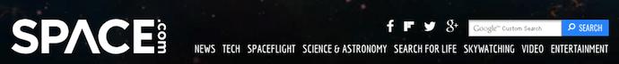 Space.com website banner