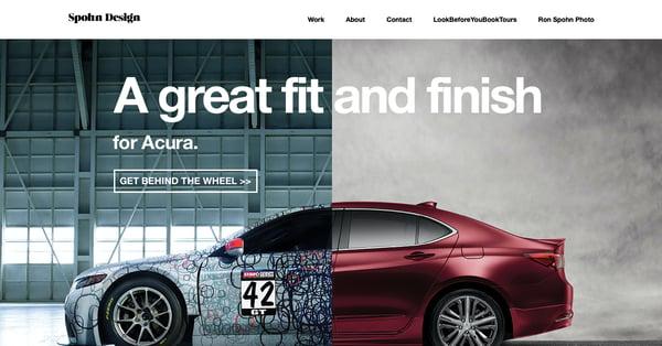 The Spohn Design homepage - Avada theme example