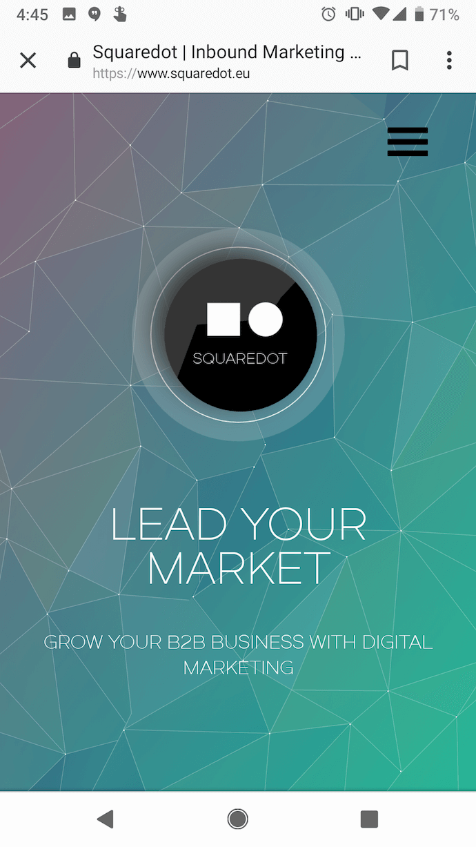 squaredot-mobile-website