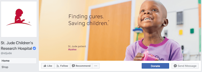 St Jude's Children's Research Hospital Facebook Business Page