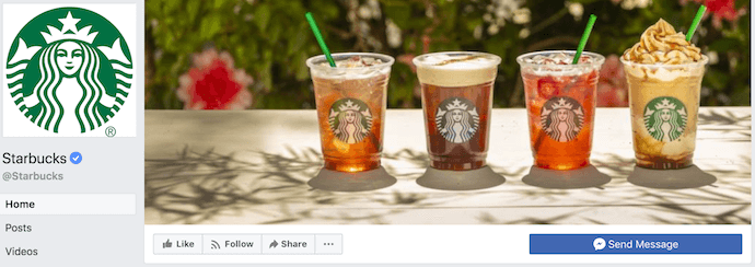 Starbucks Facebook Business Page